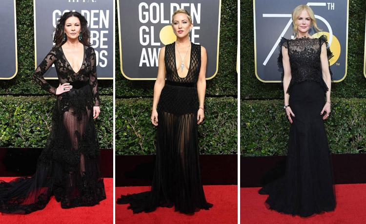 Parada de rochii negre la Golden Globes 2018. Care a fost cea mai frumoasa? 1